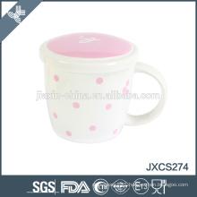 ceramic chaozhou mug new fine bone china coffee mug with lid, cup and mugs,frence style mug