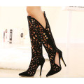 New Black Sexy Hallow Out Chaussures à talons hauts (HC 033)