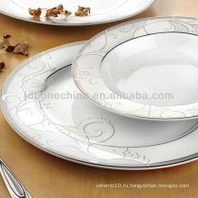 Экспорт банкет простой дизайн образец австрийская кость фарфор обед сервис ланч-бокс кухонный горшок