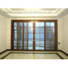 Puerta deslizante automática de vidrio resistente de diseño de puerta frontal (FT-D190)