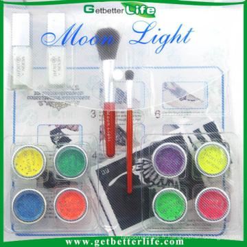 Kit de tatouage de Getbetterlife organisme professionnel art, 8 couleurs Kit de tatouage temporaire paillettes