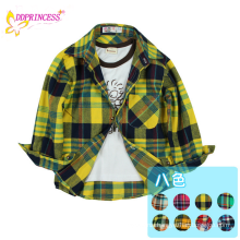 2015 factory wholesale plaid flannel shirt for children boy