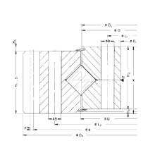 Rothe Erde Engranaje externo Anillo de giro de rodillos cruzados (161.25.1077.890.11.1503)