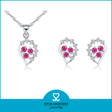 Fancy Two Color Stone Jewelry Set (J-0058)
