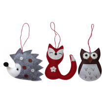 New winter woodland christmas tree ornament