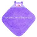 Органическое детское полотенце с капюшоном - фиолетовый Сова,100% органический хлопок,Baby душ подарок для новорожденных девочек и мальчиков,держать ребенка в тепле