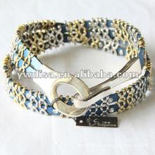 Cinturón de cuero de los accesorios del metal de la señora de la manera