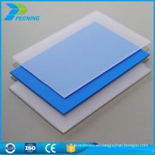 Calidad garantizada resistente al calor 6 mm policarbonato invernadero pc sólido plástico transparente panel de pared