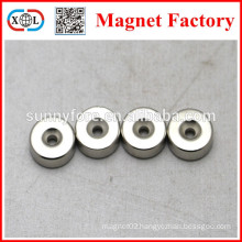 permanent countersunk hole 4mm rotor magnet