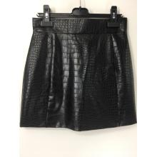 Black PU Leather Mini Skirt