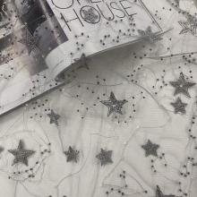 Fashion Spring Summer Star Beads Sequins Embroidery Fabric
