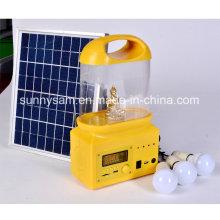Linterna solar recargable portátil de la luz del LED para acampar