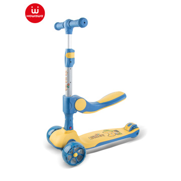 scooter pour enfants pliable avec siège pour enfants trottinette