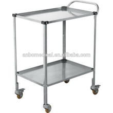 clinic or nurse used stainless steel dressing trolley with handle