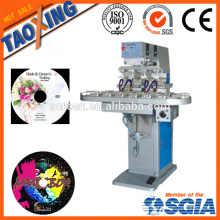 4 color tampo pad printing machine /top surface label printing machine for caps/plastic/glass bottle plastic cap printer