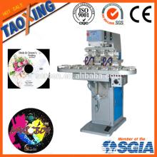 Máquina de impressão de tampo tampo de 4 cores / máquina de impressão de etiquetas de superfície superior para tampas / plástico / garrafa de vidro impressora de tampão de plástico