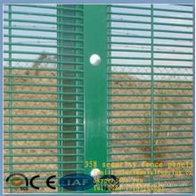 2015 mode PVC gemalt 12,5x75mm mesh count schützende sichtbare wandplatten geschweißte mesh sicherheit fechten 358 zaun panels