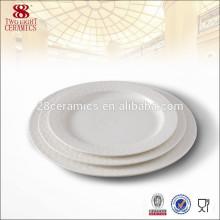 Vente chaude porcelaine vaisselle vaisselle en céramique plaques à dîner ensembles pour la différence taille