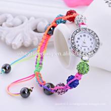 2014 высокое качество shambala бисер ремешок наручные часы женщин