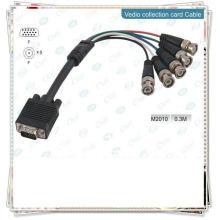 BRAND NEW PREMIUM SCHWARZ VGA TO 5BNC KABEL KONVERTER KURZ High-End Monitor Kabel, HD15M - 5xBNC