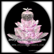 K9 Pink Crystal Lotus Flower