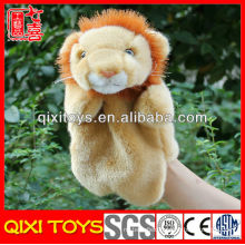 Soft realistic hand puppets plush lion hand puppet