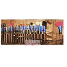 Acessório de beleza azul brilhante Ferrule 22pcs escova de maquiagem escova cosméticos