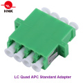 LC Quad Singlemode APC Standard Fiber Optic Adapter