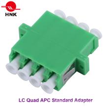 LC Quad Singlemode APC Adaptador de Fibra Óptica Estándar