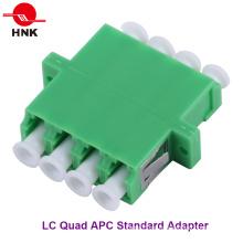 LC Quad одномодовый APC стандартный пластиковый оптоволоконный адаптер