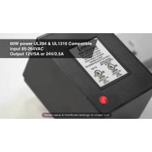 Bloc d'alimentation enfichable AC DC certifié UL1310