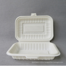 Degradable disposable plastic corn starch Bento clam shell lunch box