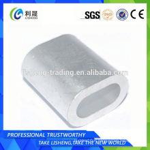 Wire Rope Oval Din 3093 Ferrules en aluminium Choix de qualité