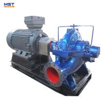 Bombas de agua sin procesar de la central eléctrica con motor