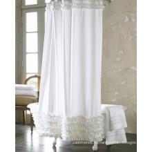 Weiß-Druck-Polyester-Duschvorhänge