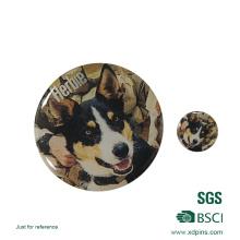 Werbeartikel Zhongshan Runde Form Edelstahl Eisen Revers Pin