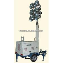 6 lampes remorque télescopique tour de lumière RZZM-42G