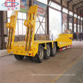 3 Axles 60T Lowboy Trailer With Ladder