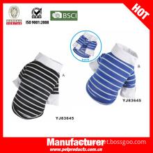 Stripe High Quality Dog T-Shirt, Male Dog Clothes (YJ83645)