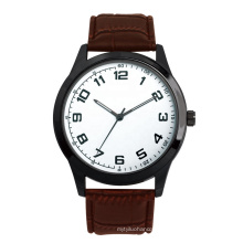 Japan Movt Quartz Imitation Leather Strap Stainless Steel Back Water Resistant business men watch
