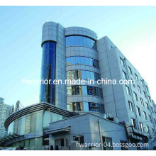 Fireproof Curtain Wall with Glass ACP Cladding