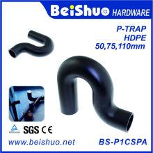Plástico HDPE P-Trap Sewage Fittings