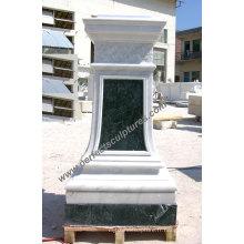 Base en marbre en granit de pierre pour ornement de jardin (BA061)