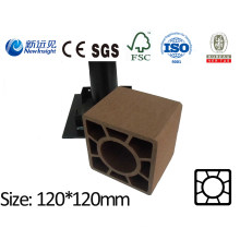 120X120 WPC Post with SGS CE ISO Fsc WPC Fence Wood Plastic Composite Post Plastic Lumber Garden Fence Lhma032A