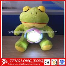 Lindo peluche de rana juguete lámparas de batería para niños