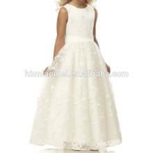 2016 geschnürt Hochzeit Mädchen Kleid Blumenmädchen Kleid Muster mit Fabrik Preis