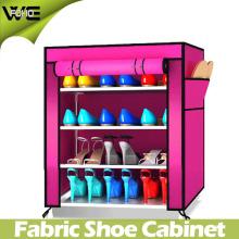Organisateur de rangement de chaussure de tissu de Mordon de tissu avec beaucoup de couleurs