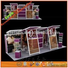 Stand de exposición comercial de aluminio modular 10x30, diseño de stand de exposición portátil