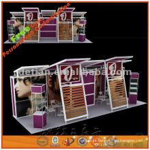 Suporte de alumínio modular da exposição da feira profissional 10x30, projeto portátil da cabine de exposição