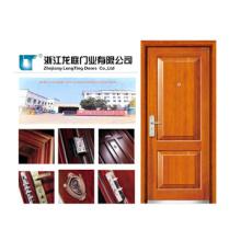 Porta blindada de madeira clássica Styl com cor marrom